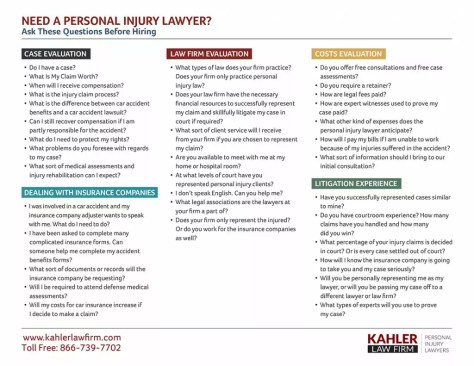 questions to ask personal injury lawyer before hiring