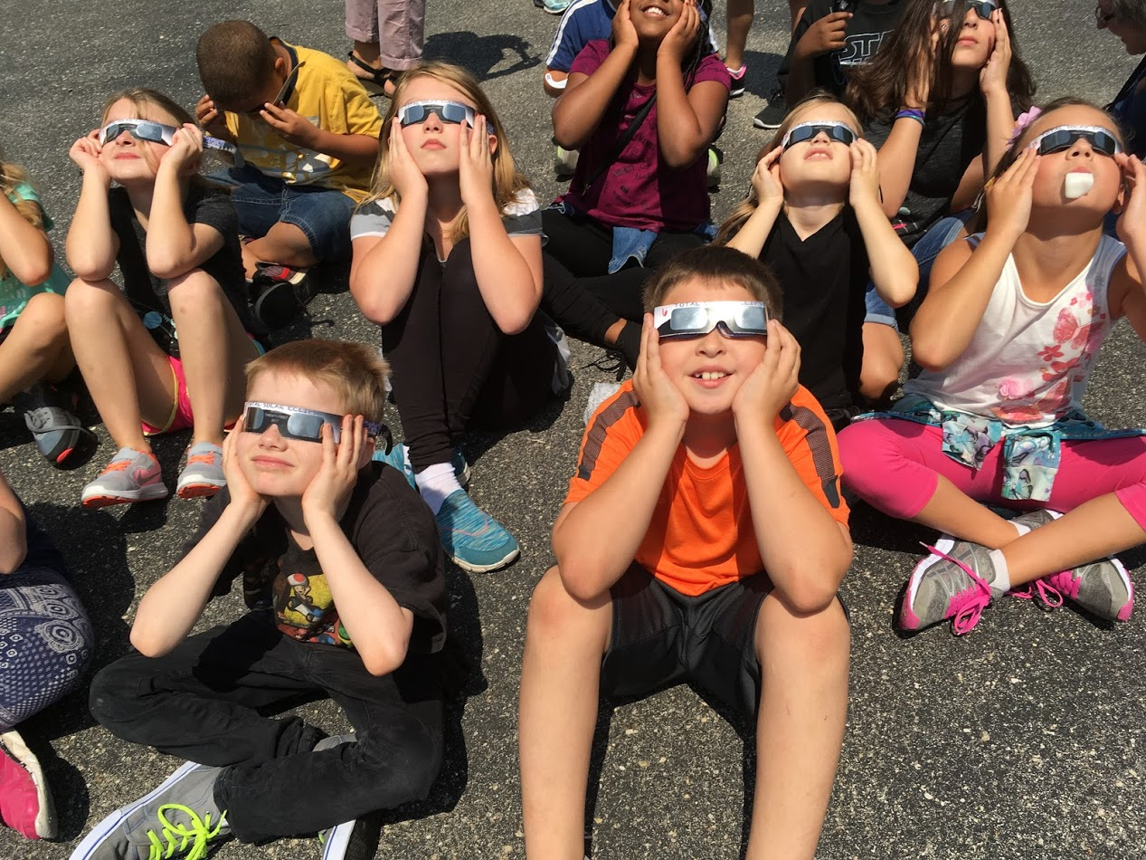 Collinsville Schools Experience Solar Eclipse