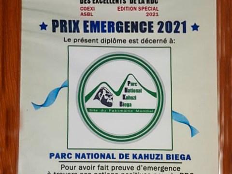Prix de l'emergence 2021 pour Kahuzi-Biega
