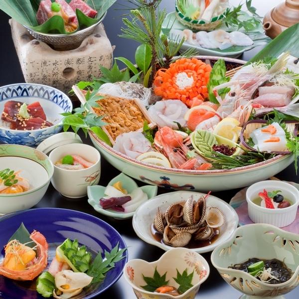 海の幸を中心とした会席料理6000円コース(イメージ)