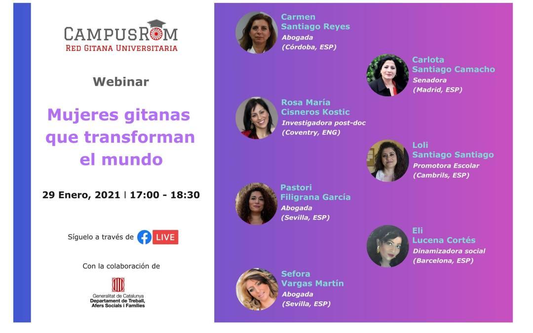 Campus Rom: Mundua eraldatzen ari diren 7 emakume ijitok parte hartuko dute webinarrean