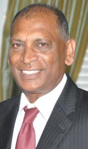 Agriculture Minister,  Dr. Leslie Ramsammy