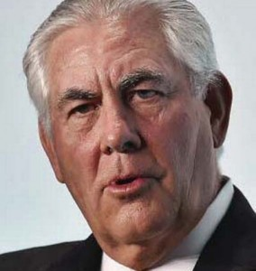 ExxonMobi's CEO Rex Tillerson