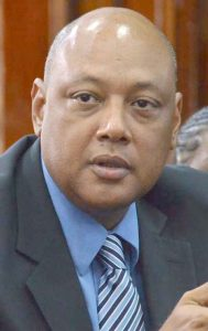 Minister of Natural Resources and the Environment, Raphael Trotman.