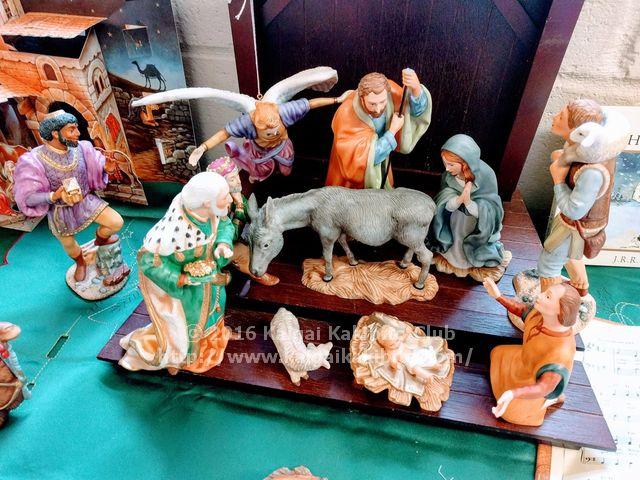 イギリスのキリスト生誕時の様子を再現した人形