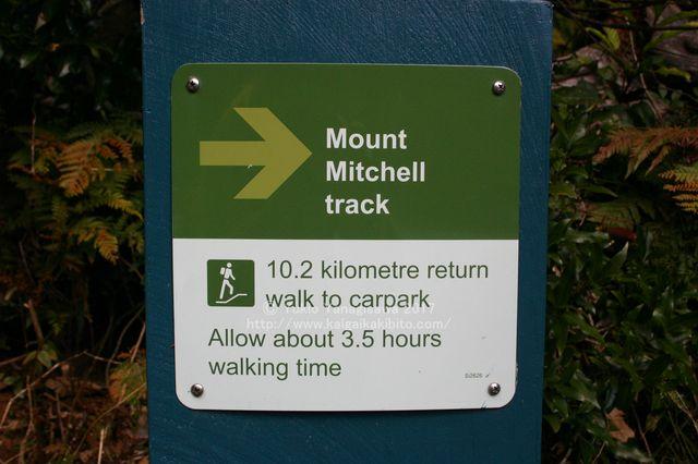 マウントミッチェルの標識