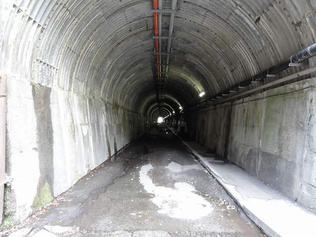 寸又峡「夢の吊り橋」への道のトンネル
