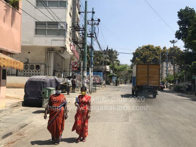 インドの路上