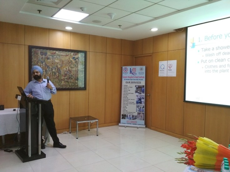 """Kailash Charitable Trust in association with Family Health Plan Insurance TPA Ltd organized a free health talk show at TechnipFMC, Technip Tower, A-4 Sector-1 on 27th October, 2017 from 3:00pm to 4:00pm. Dr.S.S Kalsi, MBBS of Kailash Hospital & Heart Institute, NOIDA has delivered a Health Talk on the topic, """"Hygiene to prevent infectious diseases"""" The talk was succeeded by a healthy interaction.. 37 employees of the company attend the Health Talk Show."""