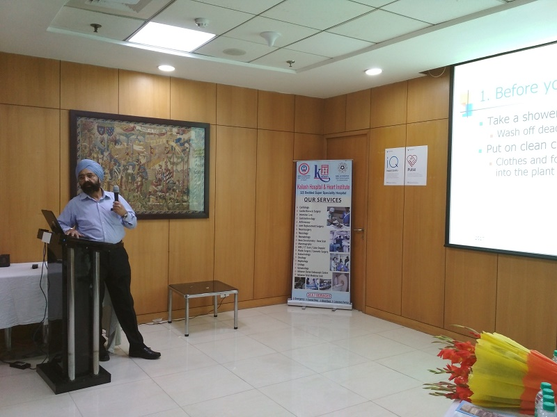 "Kailash Charitable Trust in association with Family Health Plan Insurance TPA Ltd organized a free health talk show at TechnipFMC, Technip Tower, A-4 Sector-1 on 27th October, 2017 from 3:00pm to 4:00pm. Dr.S.S Kalsi, MBBS of Kailash Hospital & Heart Institute, NOIDA has delivered a Health Talk on the topic, ""Hygiene to prevent infectious diseases"" The talk was succeeded by a healthy interaction.. 37 employees of the company attend the Health Talk Show."