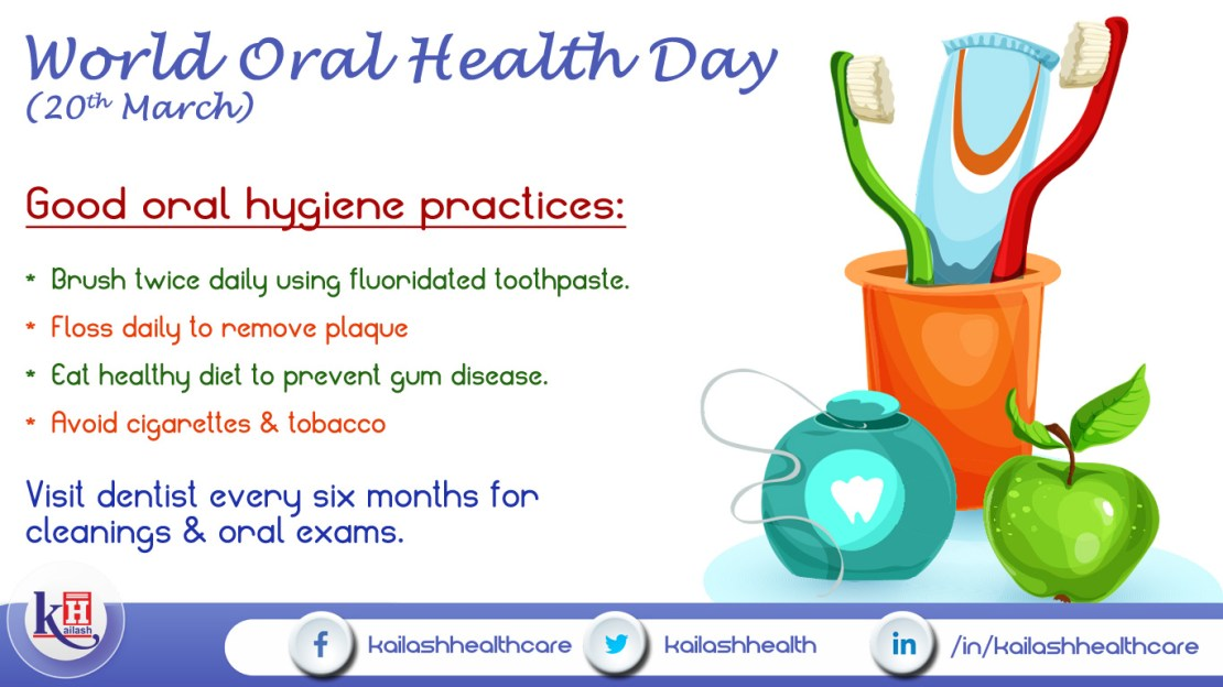 Maintain daily oral hygiene & regular dental checkups!!!