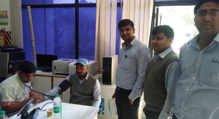 Kailash Hospital & Heart Institute Noida, organized a Free Health Check-up Camp at Minda Automotive Solutions Ltd.