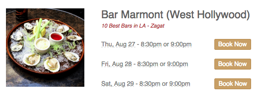 Bar Marmont Table 8