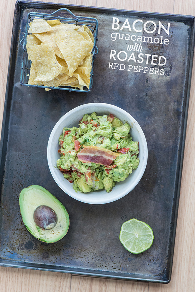 Bacon Guacamole with Roasted Red Peppers