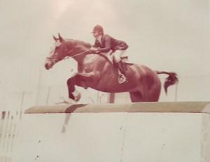 Akela and Gwen Ka'awaloa in 1976 Hunt Seat Equitation