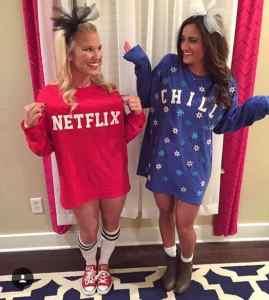 Netflix and Chill Halloween Costume #halloween #halloweencostume #halloweencouplecostume #couplecostume #diycostume #diyhalloween #diyhalloweencostume #KAinspired www.kainspired.com