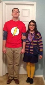 Sheldon and Amy from Big Bang Theory Halloween Costume #halloween #halloweencostume #halloweencouplecostume #couplecostume #diycostume #diyhalloween #bigbangtheory #sheldon #diyhalloweencostume #KAinspired www.kainspired.com
