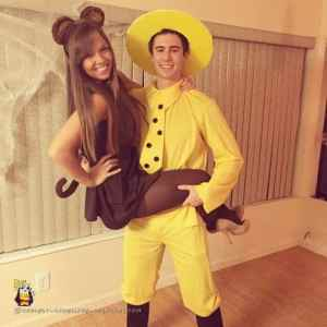 Man in the Yellow Hat and Curious George Couple Costume Halloween Costume #halloween #halloweencostume #halloweencouplecostume #couplecostume #diycostume #diyhalloween #diyhalloweencostume #KAinspired www.kainspired.com