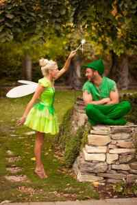 Tinkerbell and Peter Pan Halloween Costume #halloween #halloweencostume #halloweencouplecostume #couplecostume #diycostume #diyhalloween #diyhalloweencostume #KAinspired www.kainspired.com