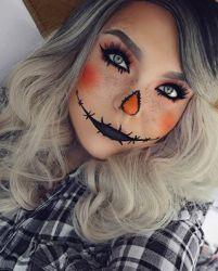 DIY Halloween Makeup Looks #halloween #halloweencostume #diy #diyhalloweencostume #diycostume #makeupideas #halloweencostumes #facepaint #makeup #scarecrow #scarecrowcostume #kainspired
