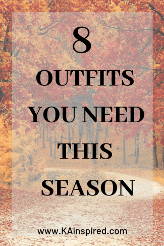 8 Outfits for this Season #fall #fallshion #winter #winterfashion #sweater #fashionideas #fallstyle #winterstyle #wardobe #KAinspired