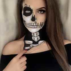 DIY Halloween Makeup Looks #halloween #halloweencostume #diy #diyhalloweencostume #diycostume #makeupideas #halloweencostumes #facepaint #makeup #skeleton #kainspired