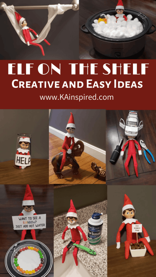 Elf on the shelf easy and creative ideas #elf #elfontheshelf #creative#elf #elfideas #christmas #christmasspirit #christmastraditions #traditions #christmasideas #elfideas #elf #easyelfontheshelf easy elf on the shelf ideas #affiliate
