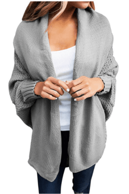COMFY SWEATER FOR FALL - open front knit cardigan