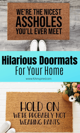 Hilarious Doormats For Your Home - KAinspired #hilariousdoormats #doormats #entryway #welcomemats