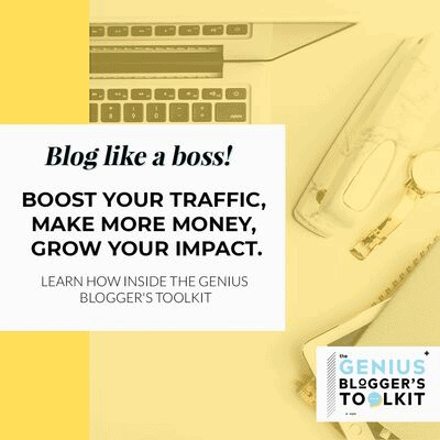 GENIUS BLOGGERS TOOLKIT 2019