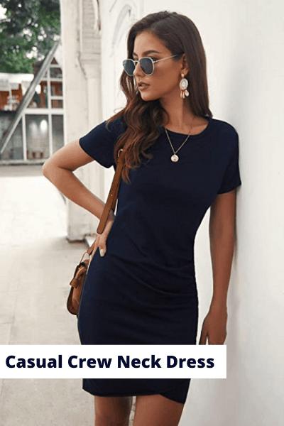 casual crew neck dress | summer dress