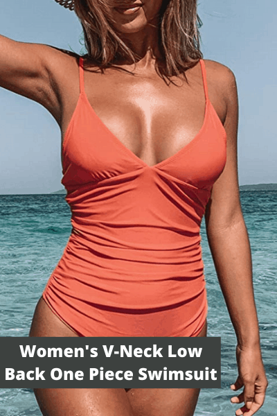Women's v-neck one piece swimsuit | Summer Fashion