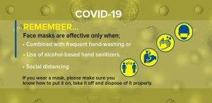 Remember face masks effectiveness against coronavirus