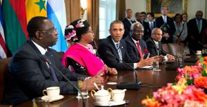 obama with african leaders