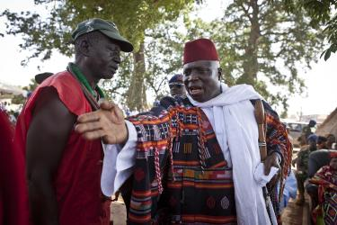 Jammeh with one of his idol worshipping men