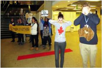 COP 19 protestors