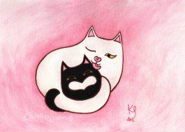 Rakkaus on rikkaus, alkuperäiseltä nimeltään Hali-Mami. Akvarelli ja peiteväri, 2012.