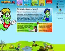 Wellou.fi-palveluun animaatioita ja hahmosuunnittelua. Animaattoriharjoittelijana Beneway Oy:n palveluksessa, 2007.