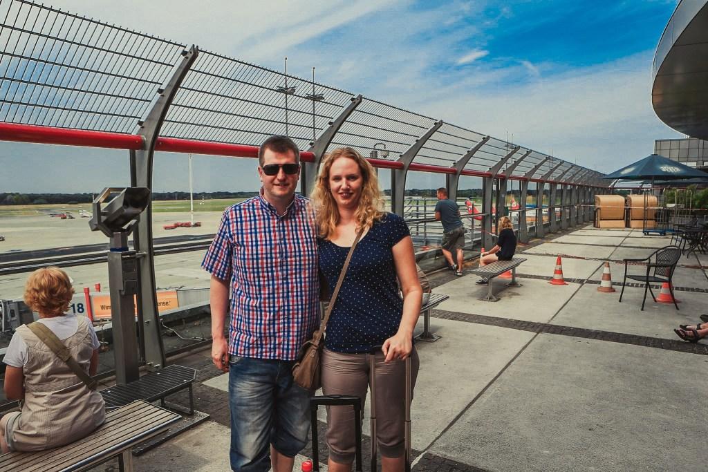 Annemarie und Kai am Airport in HH