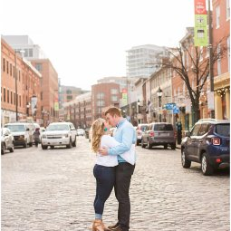 Allie + Jimmy | Fells Point Engagement Session