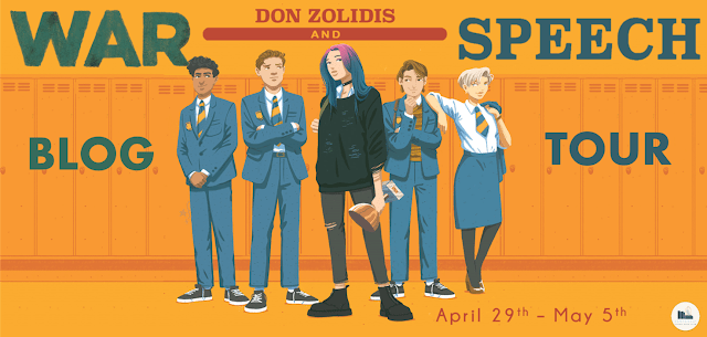 Blog Tour: War and Speech by Don Zolidis (Interview + Giveaway!)