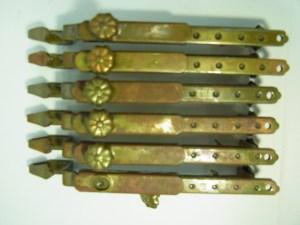 古民具 仙徳 自在長押掛金具 6本セット 中古品