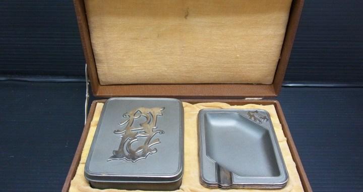 昭和レトロ 金属製 タバコ入れ 灰皿3枚 ASA 中古品
