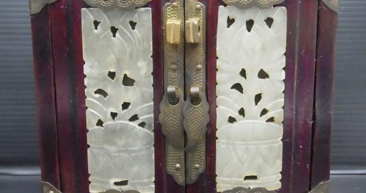 アンティーク 中国 小引き出し 宝石入れ 高さ 約18cm 中古品