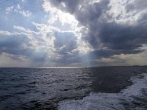 海洋散骨帰港