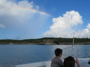 宮古島散骨と虹