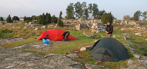 Läger på Flakskär