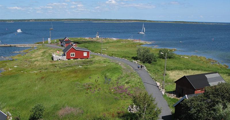Utsikten uppifrån Lotsutkiken på Långören
