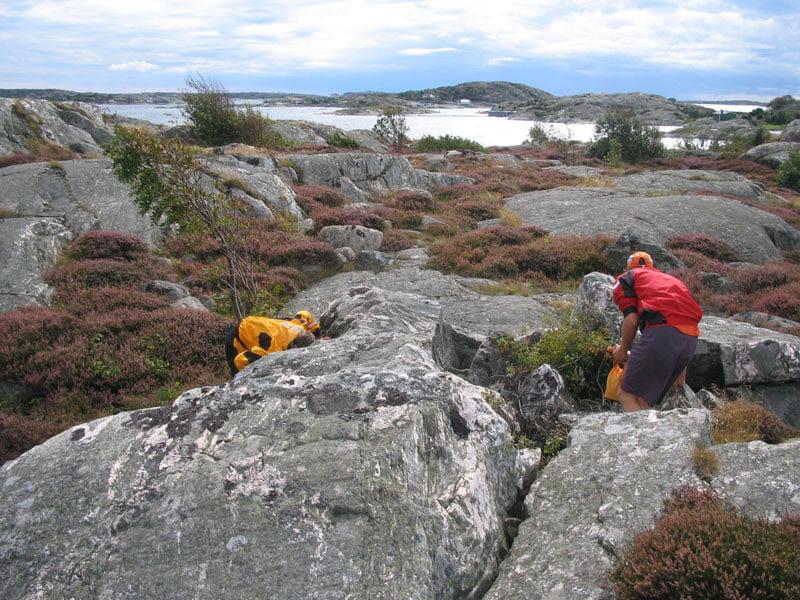 Geocaching på lilla Rävholmen