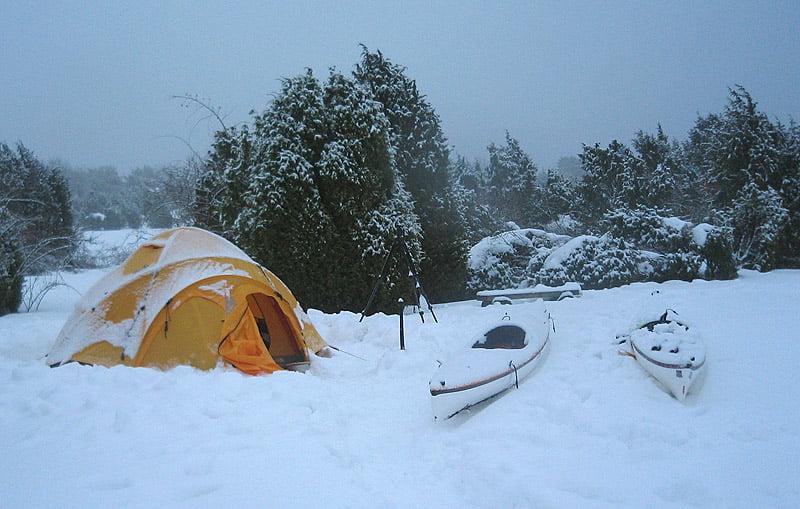 VE25 i snö i Blekinge